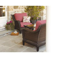 Woodbury 3-Piece Patio Seating Set with Dragon Fruit Cushions