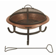 15 in. Round Hammered Copper Fire Pit