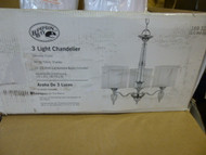 Hampton Bay Bella Collection 3-Light Hanging Chrome Chandelier