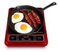 Big Boss 9148 1300-watt Induction Cooktop Compatible with Induction Cookware, Red