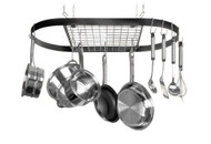 Kinetic Classicor Series Wrought-Iron Oval Pot Rack 12021