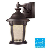 Hampton Bay Basilica  Wall-Mount Outdoor Mystic Bronze 7 in. LED Lantern
