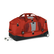 High Sierra Evolution 34-Inch Drop Bottom Wheeled Duffel, Lava