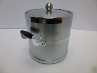 Kraftware Americano 3 qt. Brushed Chrome Ice Bucket with Handles