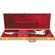 Musician's Gear Deluxe Electric Guitar Case Tweed Tweed