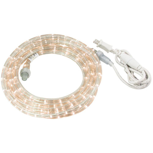 Commercial electric 27 ft led white rope light kit the open box shop image 1 aloadofball Choice Image
