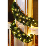 SET OF 4 Christmas Holiday 20' Noble Fir Garland Artificial w/ Clear Lights