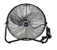 Lasko 20 in. High-Velocity Floor or Wall-Mount Fan in Black