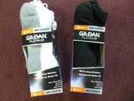 Set of 2 (6 packs) Gildan Ankle Moisture Wicking Cushion Sole Performance Socks. GP731