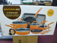Rachael Ray Hard Enamel Nonstick 14-Piece Cookware Set