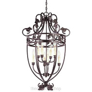 Hampton Bay 8-Light Hanging Oil-Rubbed Bronze Multi-Light Pendant