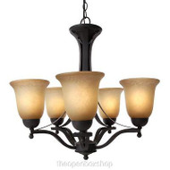 Commerial Electric 5-Light Rustic Iron Chandelier