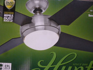 HUNTER 59072 52 Sonic Brushed Nickel Ceiling Fan