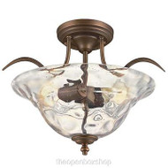 Hampton Bay Grace 2-light Rubbed Bronze Semi-flush Mount