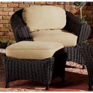 Lake Adela Four-Piece Seating Set - Charcoal Wicker W/Oatmeal Cushions