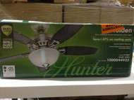 Hunter Holden 44 in. Brushed Nickel Ceiling Fan