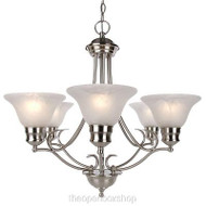 Hampton Bay 6-Light Satin Nickel Chandelier (335-150)