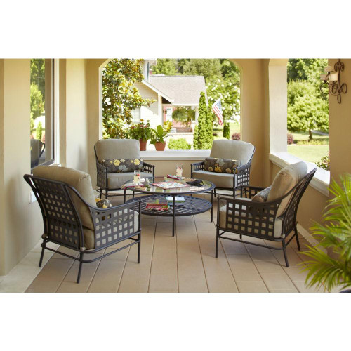 Hampton Bay Lynnfield Piece Patio Chat Set Chairs Only The