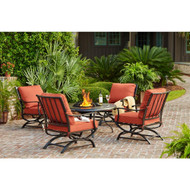 Redwood Valley 5-Piece Patio Fire Pit Seating Set
