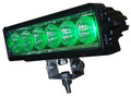 Heavy Duty Single Row Hog Hunting (Green) 18 Watt LED SPOT Light Bar-Model 1