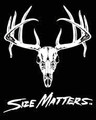 "SIZE MATTERS 10"" WHITETAIL DECAL"