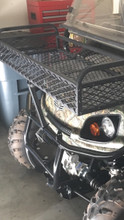"""This is the steel, rubber coated basket for the 3 other Bad Boy (Textron) models that come in 12"""", 18"""" and 24"""" front lengths. All are 41"""" wide and the 18"""" and 24"""" baskets have bumper center support brackets. The 12"""" baskets is sturdy but has no center support brace because it is not designed to carry heavier objects like the 18"""" and 24"""" models. NO RUST  NO RATTLE"""