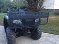 Honda Rancher Front Rubber Coated  Basket with Headlight & Grill Guard