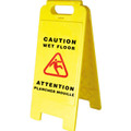 Bilingual Janitorial Wet Floor Sign