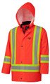 5892 PU STRETCH HI-VIZ FLAME RESISTANT RAIN JACKET