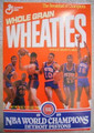 Detroit Pistons 1989 Wheaties Box