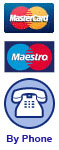 Pay by Mastercard, Maestro or over the phone