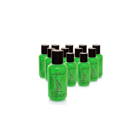12 for $15 - Green Apple & White Lily 2oz Travel Size Body Wash