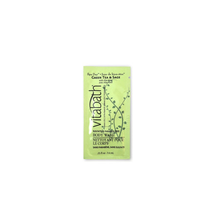 Green Tea & Sage 0.25 fl.oz Body Wash Packette