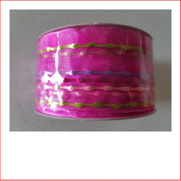 Christmas Ribbon Pink with Coloured Stripes 38mm is a beautiful bright and vibrant coloured carnival Ribbon