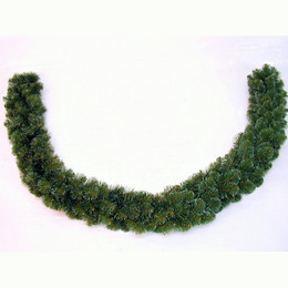 Alberta Spruce Garland 9ft Dark Green Iced