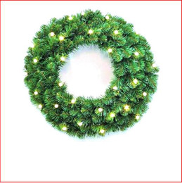 Alberta Spruce Wreath 61cm Pre-Lit 40 LED Lights