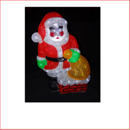 The Led Acrylic Santa Claus is made from a hard acrylic plastic where the lights inside just light up and shine the product. The Led Acrylic Penguin is a beautiful christmas display that can be utilised in large and small displays.