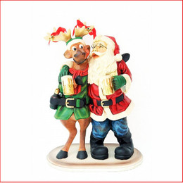 Santa's Happy Hour a great decoration for your table, joy of a few drinks at christmas time