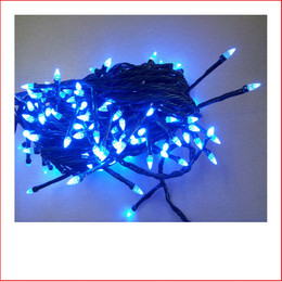 The 160 LED Crystal Christmas Lights Super Blue are a great size to decorate a medium to large christmas tree or other christmas display pieces like wreaths, garlands, wall trees, topiary balls. The 160 LED Crystal Christmas Lights Super Blue is a unique shape bulb that gives your lighting and display the perfect touch and different to your next door neighbours christmas display. Decorating with christmas Led fairy lights is endless as the led lights can be used Indoor/Outdoor and you can create to your imagination. Led Lights can be used on your gutter, roof or your palm tree in the front yard. The beauty of the LED Lights is that they are energy efficient and very little power is used and you can enjoy a joyful Merry Christmas at low energy cost. Christmas Lights don't have to be used at christmas time only, you can use them for a special event like a birthday, party or any celebration.