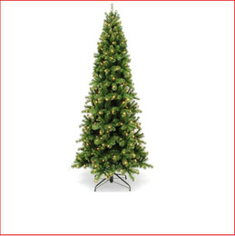 Pencil Pine 2.28m Pre-lit 432 LED Lights