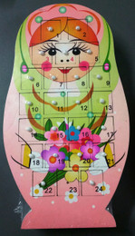 Babushka Advent Calendar - Pink