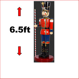 The Polyresin Toy Soldier with Baton 6.5ft. Polyresin Statue with extensitive detail. Looks great in your christmas display with Christmas Trees, Santa Throne, Candy Cane or if you just need to of them to keep guard of your christmas display. The Toy Soldier with Baton 6.5ft is seen in many shopping centres and corporate window christmas display.