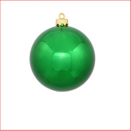 100mm Christmas Bauble - Green - Wired Glossy