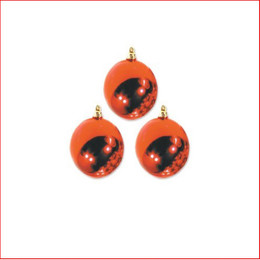 200mm Christmas Bauble - Red - Wired Glossy, Sold Individually