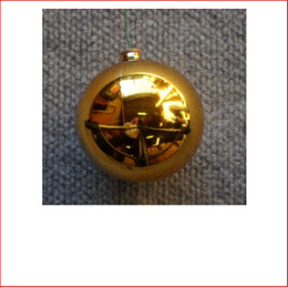 50mm Christmas Bauble - Gold - Wired Glossy