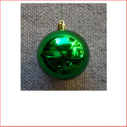 50mm Christmas Bauble - Green - Wired Glossy