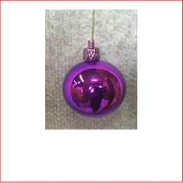 50mm Christmas Bauble - Purple - Wired Glossy
