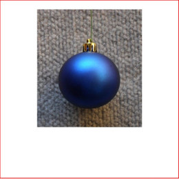 50mm Christmas Bauble - Blue - Wired Matte