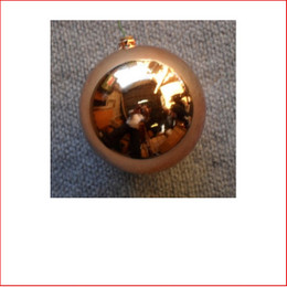 70mm Christmas Bauble - Copper - Wired Glossy