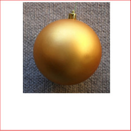 70mm Christmas Bauble - Gold - Wired Matte
